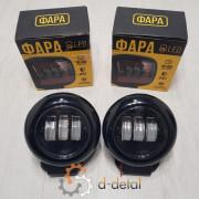Фара LED кругла 30W black