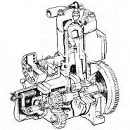 Механизм передачи пускового двигателя ЮМЗ